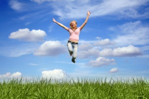Luftsprung-Lebensfreude